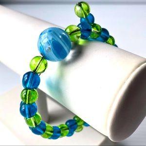 🌸2/$10 Artisan Glass Bead Bracelet Vintage Glass Beads